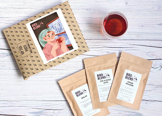 Tea Club, 3 new teas every month with a new illustration each month